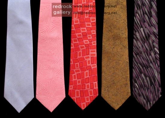 aboriginal design silk tie - redrock gallery