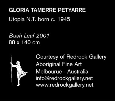 Gloria Petyarre Bush Leaf Dreaming Design Notebook - redrock gallery