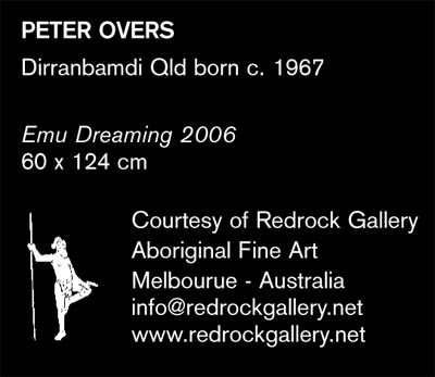 Peter Overs Emu Dreaming Design  Notebook - redrock gallery