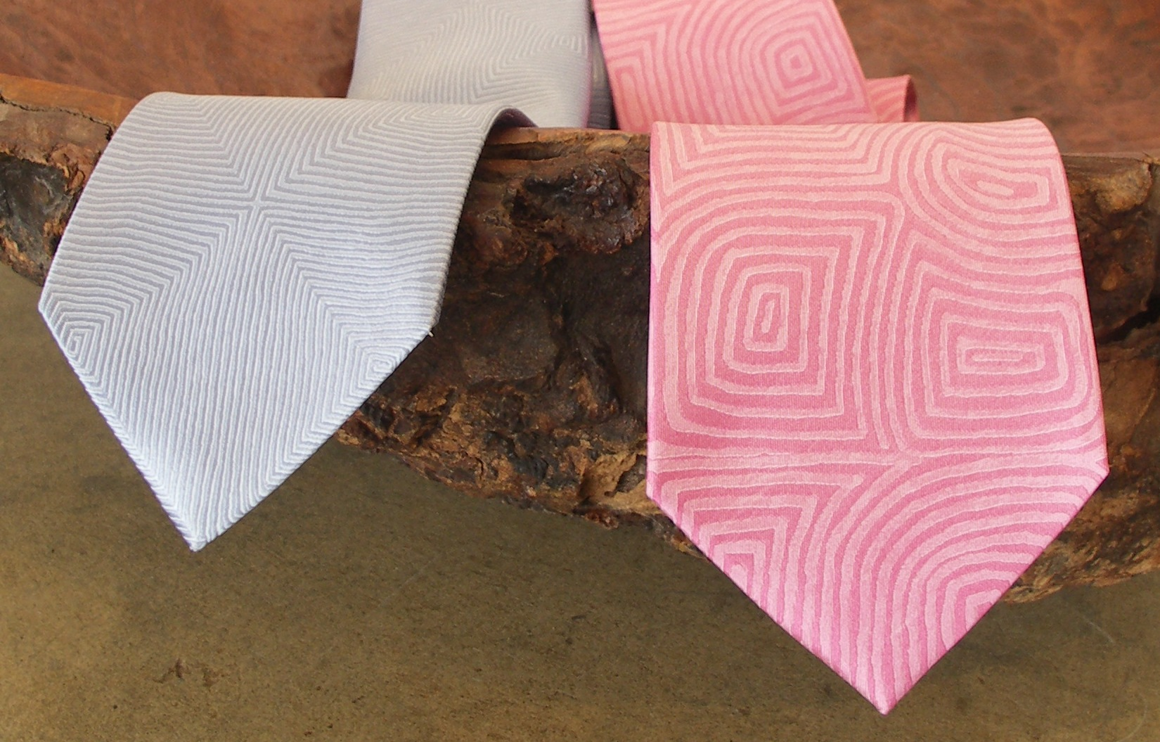 aboriginal design silk ties
